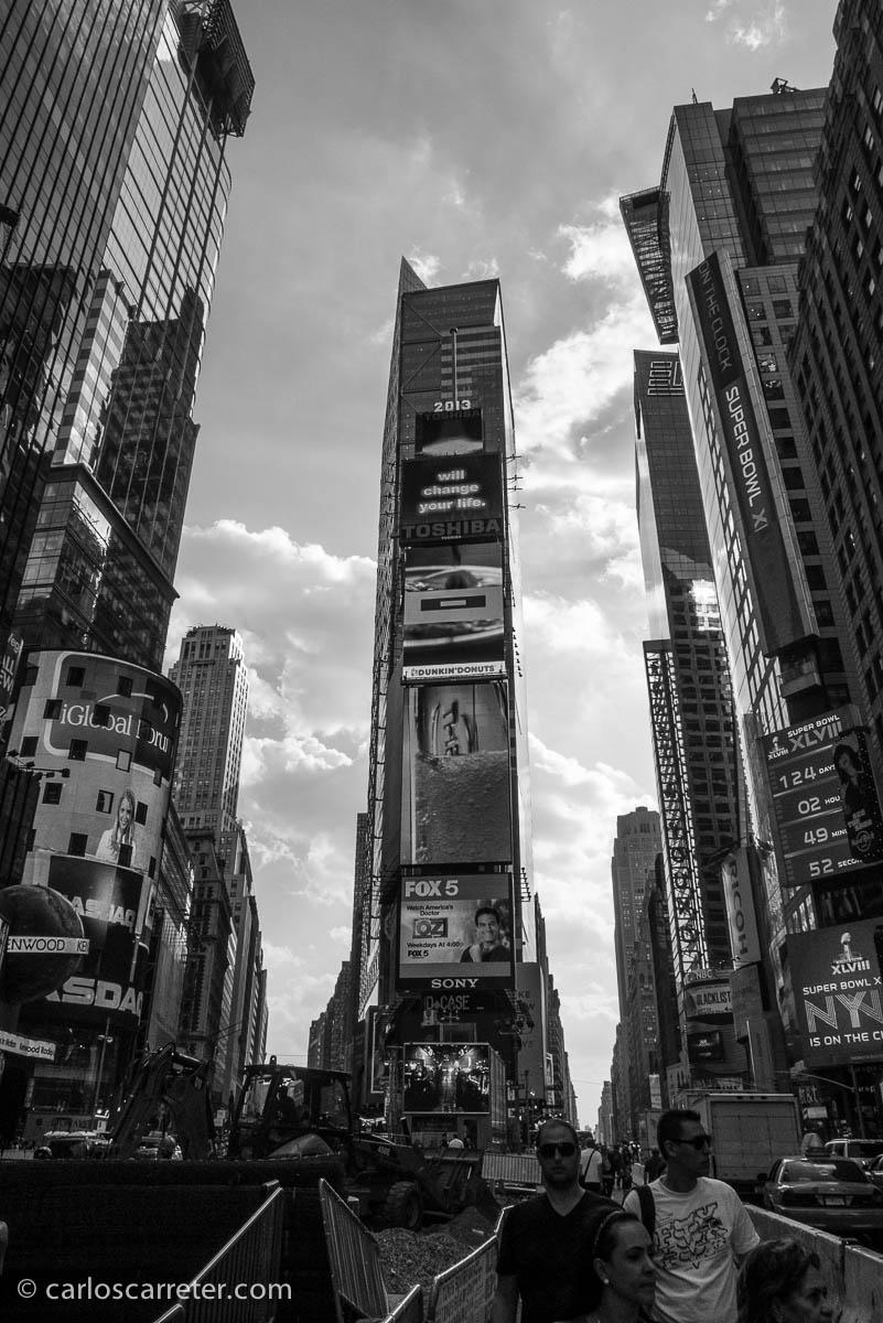 Broadway con la 7ª, o sea, Times Square