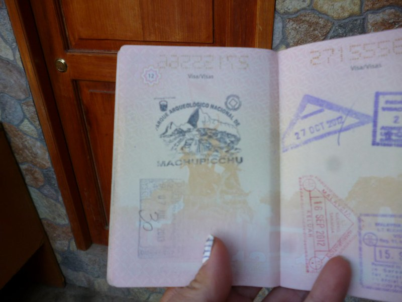 Don't forget the Machu Picchu stamp for your passport.