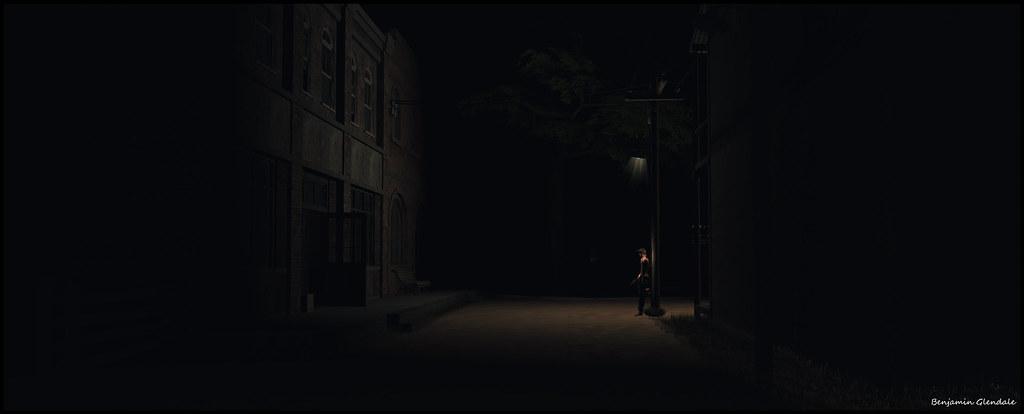 Benjamin on a dark street (by Benjamin Glendale)