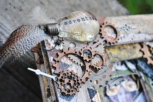 steampunk cover, gears