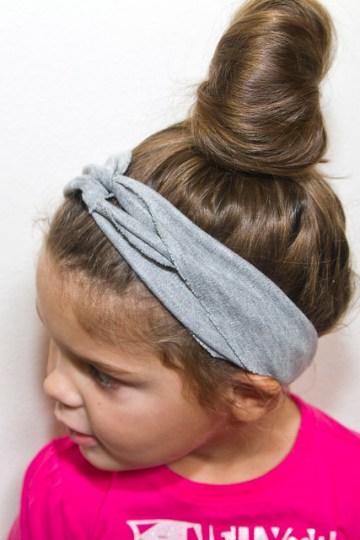 Annabel models the DIY Turban Headband