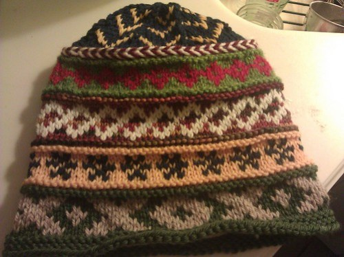 insane fair isle hat