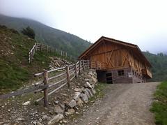 Aufstieg Tiefrastenhütte Wechsel auf den schmalen Almweg