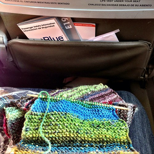 Time for some airplane knitting.