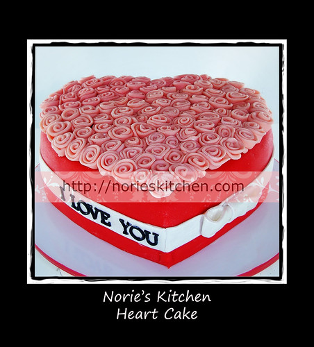 Norie's Kitchen - Heart Cake by Norie's Kitchen