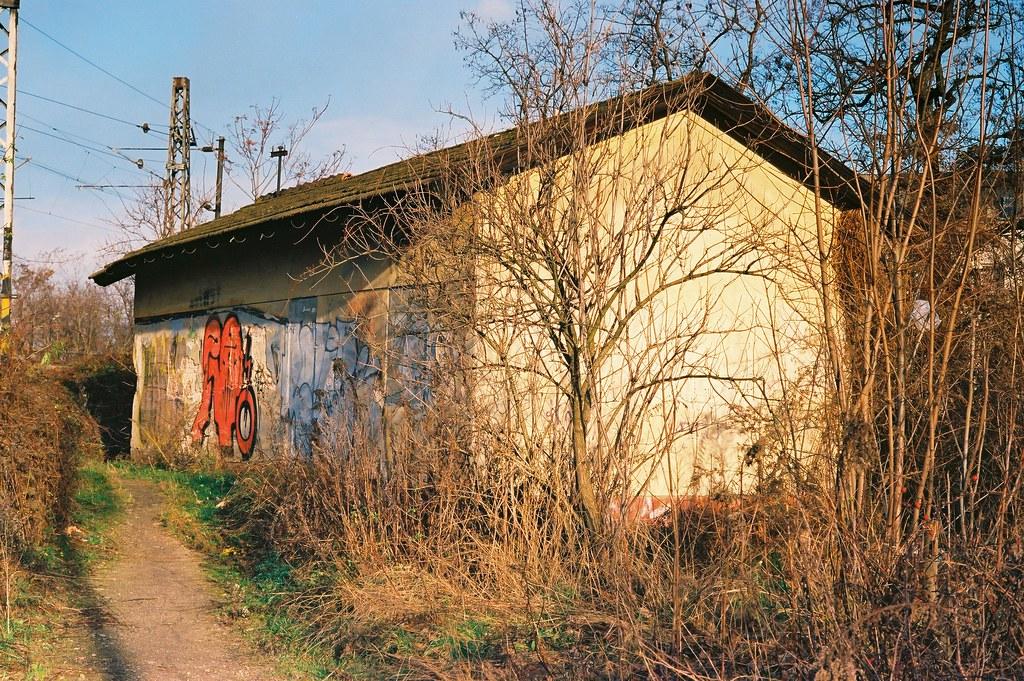 Kiev 4 + Helios 103 - Abandoned Railway Building