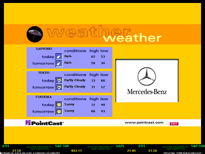 PointCast screenshot