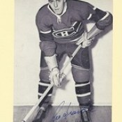 1944-63 NHL Beehive Hockey Photo / Group II - LEO GRAVELLE (Right Wing) (b. 10 Jun 1925 - d. 30 Oct 2013 at age 88) - Autographed Hockey Card (Montreal Canadiens) (#243)