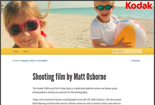 Kodak 1000 Word Film Friday Blog! by MatthewOsbornePhotography_