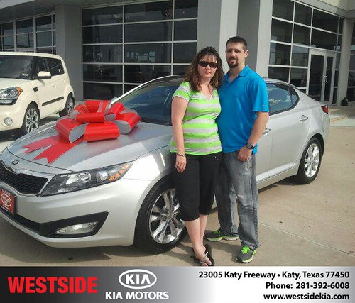 Thank you to Wesley Franks on your new 2013 Kia Optima from Gil Guzman and everyone at Westside Kia! by Westside KIA