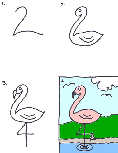 How To Draw A Flamingo For Kids Art For Kids