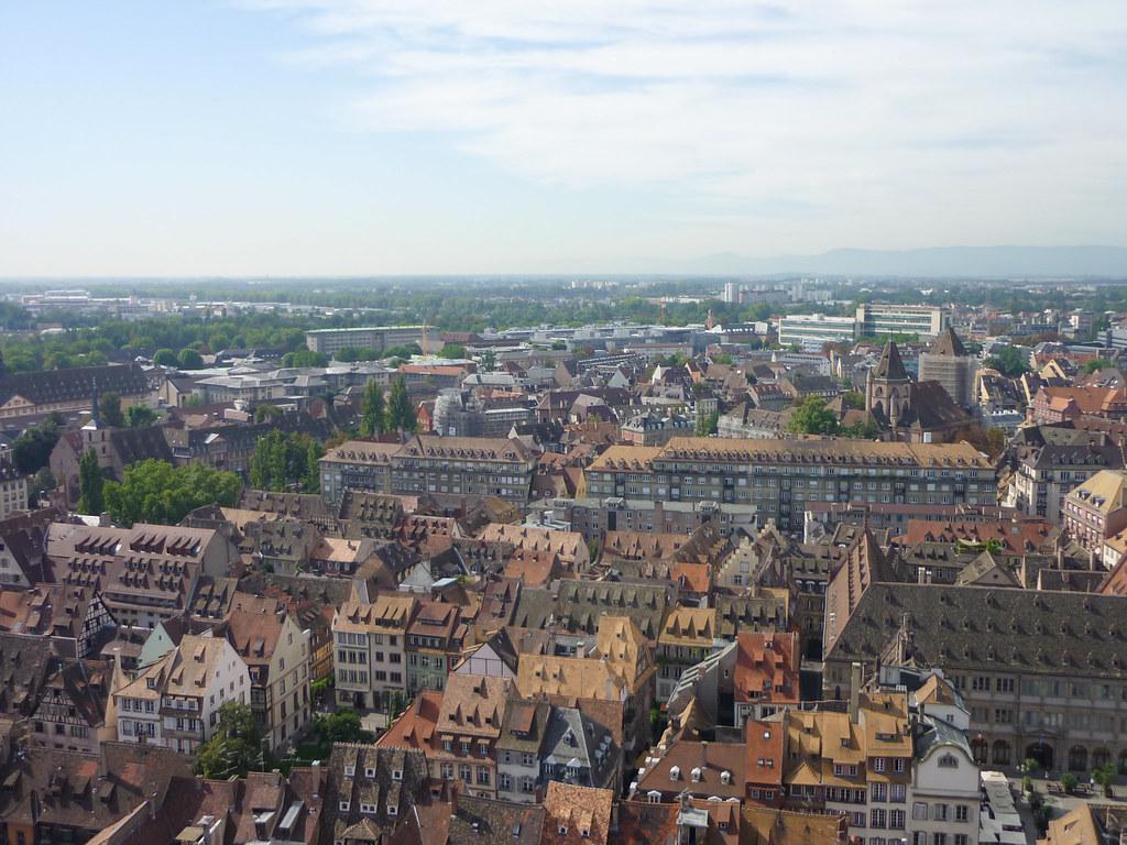 Strasbourg vue depuis la plate-forme cathédrale Notre-Dame
