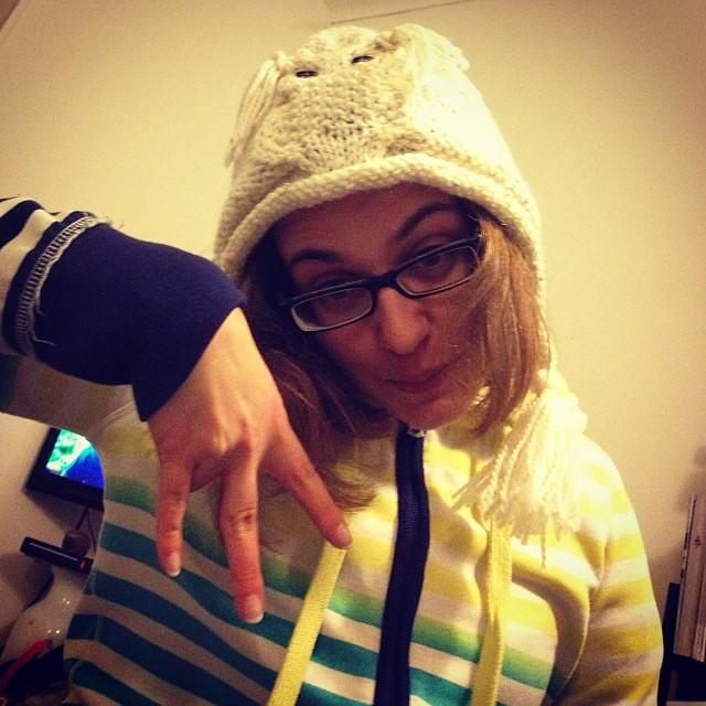 Buffo cappello buffa ragazza #instaknit #yarn #lavoroamaglia #fattoamano #handmade #ravelry