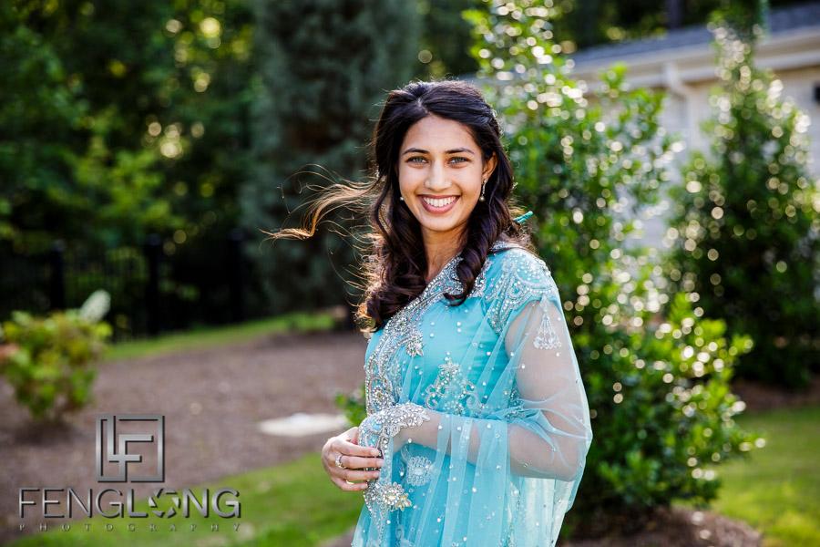Indian wedding bridal portraits at Ashton Gardens