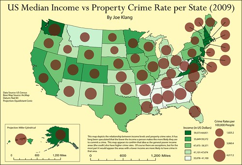 US Median Income vs Property Crime Rate Map uwecgeog200klangjp