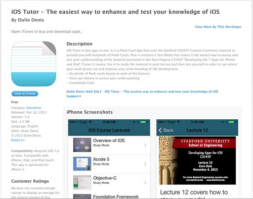 iOS Tutor in the AppStore