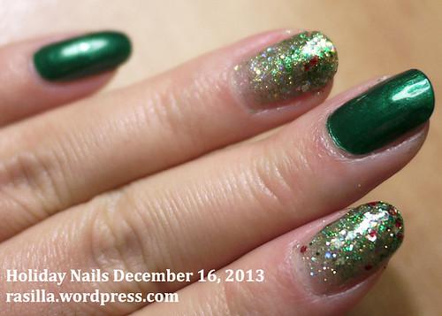 Glittery Green Gradient