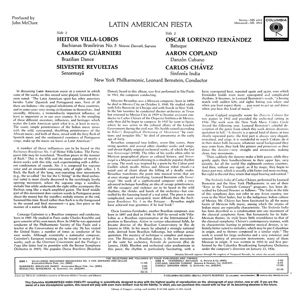 Leonard Bernstein - Latin American Fiesta