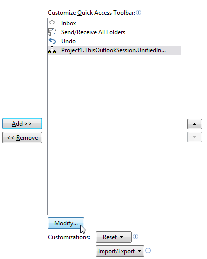 คลิกที่ Modify เพื่อเปลี่ยนชื่อซะหน่อย