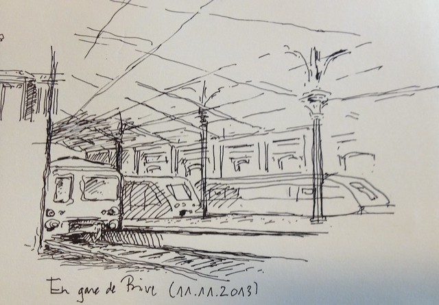 Waiting for the train in Brive