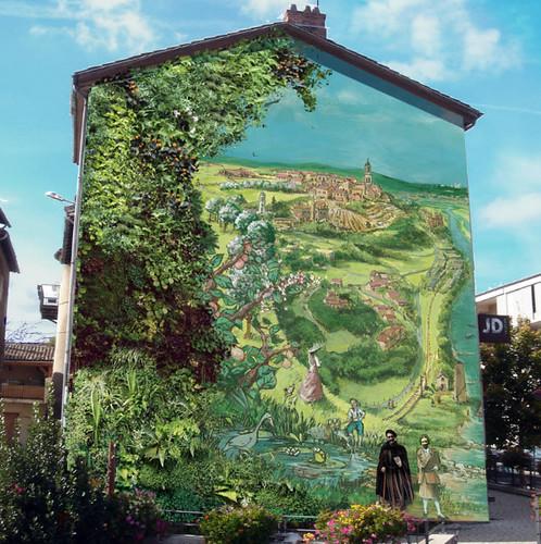 tranh tường, thực vật