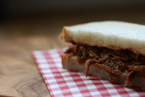 Chipotle barbeque pulled pork sandwich by the james kitchen