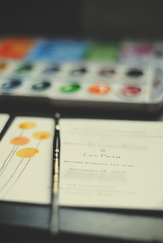 DIY Watercolor Wedding Invites