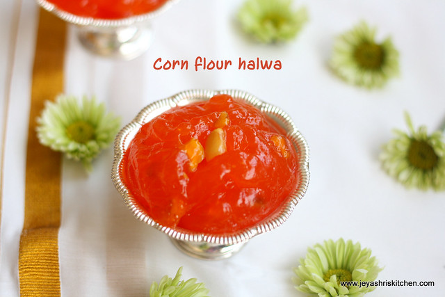 corn-flour-halwa-recipe