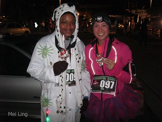 Arlene and I after the race. We survived!