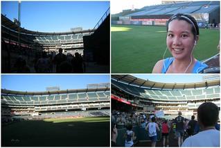 Running through Anaheim Stadium