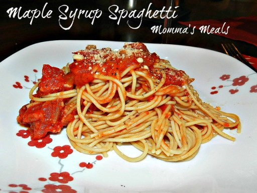 Maple Syrup Spahgetti