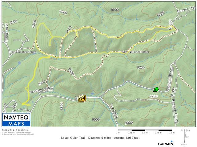 Lovell Gulch Trail Map