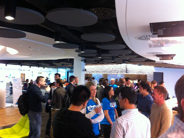 Launch party at Skype