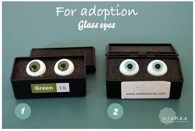 FOR ADOPTION: Glass eyes