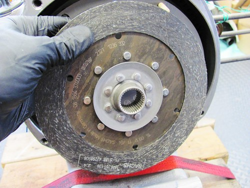 Clutch Plate with Spline Ring Facing Outward