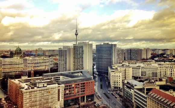 Berlin in a sunny winter day