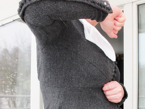My gray Charles de Blois dress - 20