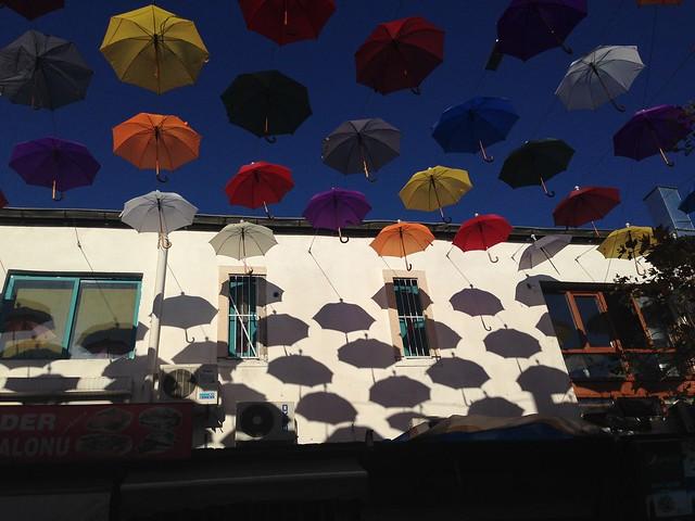 umbrellas in antalya