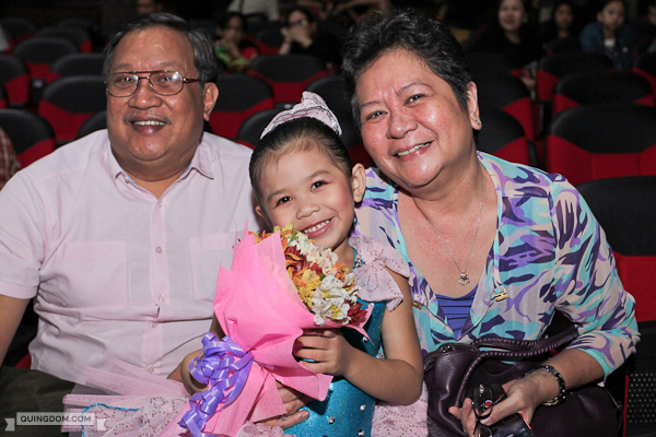 Julia with her lolo and lola