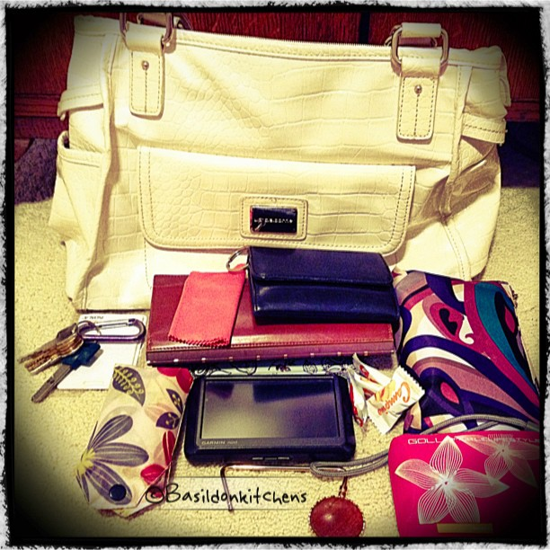 June 29 - in my bag {everything but the kitchen sink} #fmsphotoaday #inmybag #lizclaiborne #mess #necessities