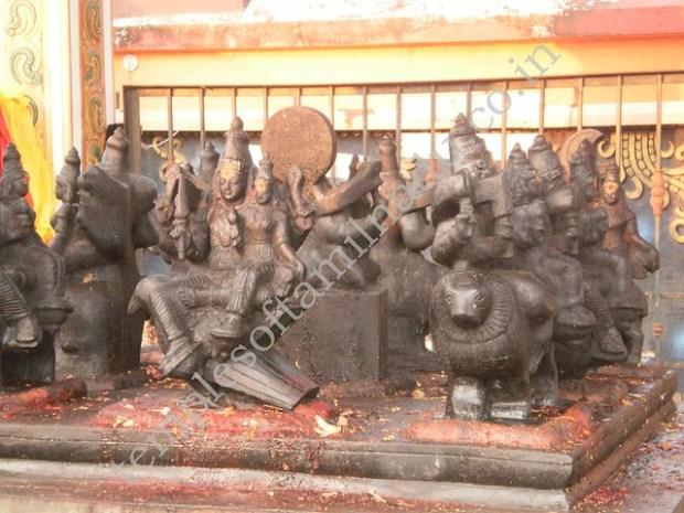 Navagrahas with their spouses. Mahakaleshwarar temple, Irumbai