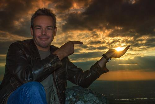 Me catching the sun - Nikon D60