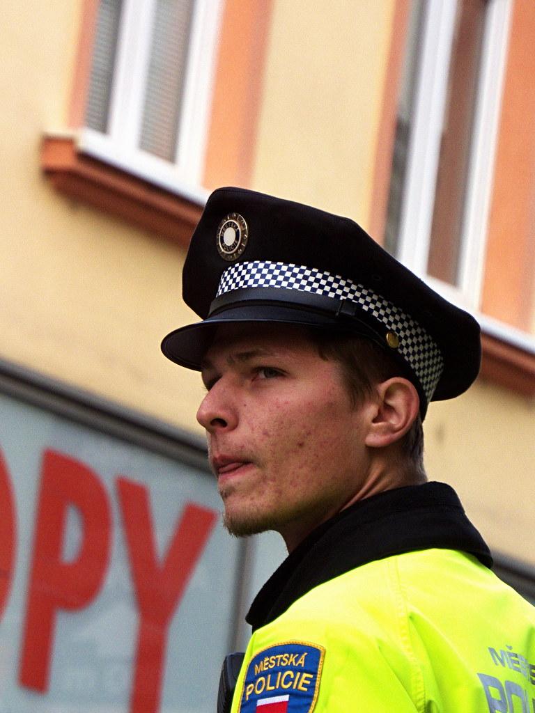 Policeman - Candid Portrait
