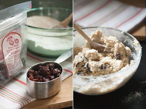 Cherry-Almond Muffin Ingredients