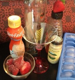 Ingredients for SlimFast Berry Sexy Vanilla Sunrise cocktail