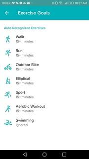 กิจกรรมการออกกำลังกายต่างๆ ที่ fitbit flex 2 สามารถตรวจจับได้