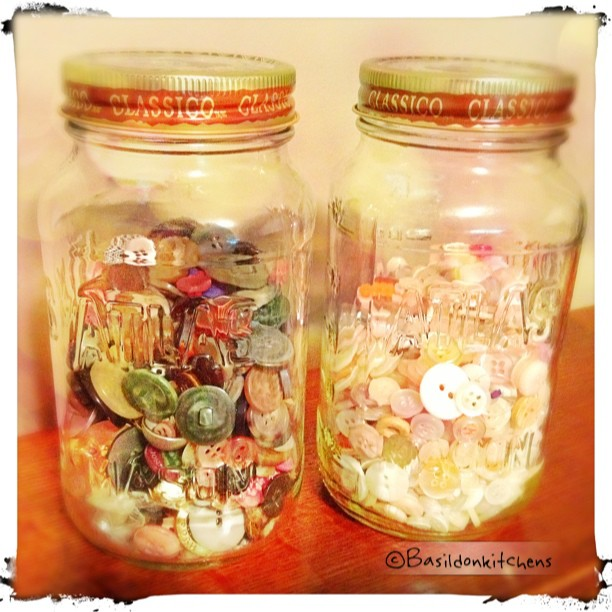 June 29 - button box {I actually have two button jars; one dark, one light} #photoaday #buttons
