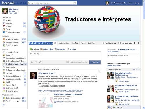 Traductores e intérpretes en Facebook