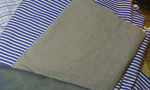 The Blue Stripe is from Acorn, The Wool House 2008