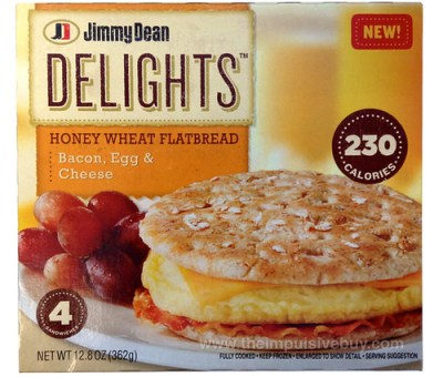 Jimmy Dean Delights Honey Wheat Flatbread Bacon, Egg & Cheese Breakfast Sandwich